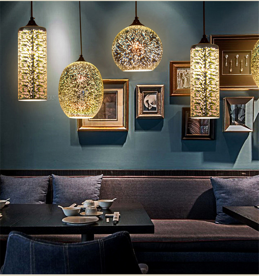 3D Glass Pendant lamp nordic hanging lights dining/living room bar restaurant pub decor modern pendant lights with E27 bulb modern luxury glass diamond shape pendant lamp restaurant hotel clubs cafe pub shop exhibition fair shining crystal drop lights