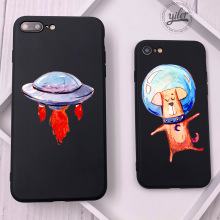 Coque Space Ship For iPhone 7 Plus Case XS Max Dog Shell Fundas XR Cases 5 5S SE 6 8 X