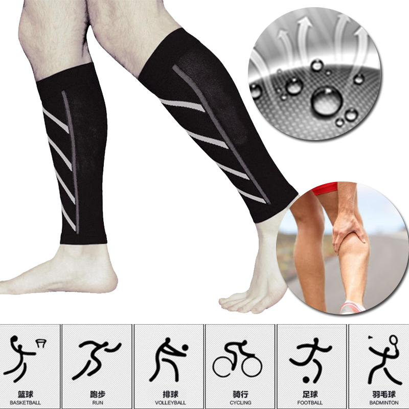 Pair Calf Support Compression Leg Sleeve Running Sports Socks Outdoor Exercise Brace Wra ...