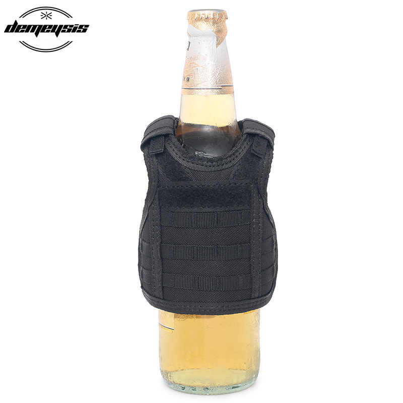 Тактический мини-бутылка жилет военный чехол для пивной бутылки охладитель напитков мини-охотничья бутылка жилет с регулируемым плечевым ремнем