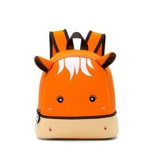 лучшая цена Hippo kindergarten bag schoolbags backpack 2-5 years old children cartoon backpack school bags