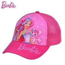 Фотография Barbie Kids Baseball Caps Summer Mesh Snapback Hats Children Adjustable Sun Hats Breathable bone casquette girls