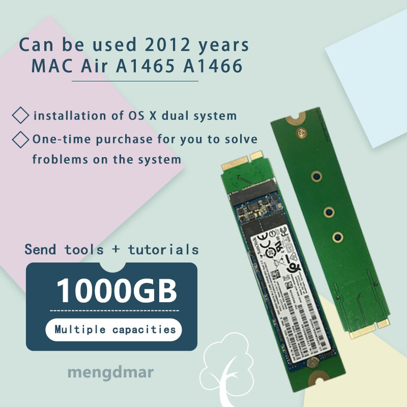 new 1000GB 1TB SSD For 2012 Macbook Air A1465 A1466 SOLID STATE DISK Md231 md232 md223