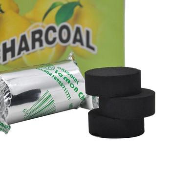 2Rolls/lot Lemon Flavored Hookah Charcoal Shisha Hookah Carbo Quick-lighting Burn Even Lasting Long Flavored Charcoal