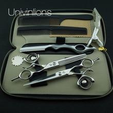 "6"" 440C professional japan hair scissors japanese hairdressing scissors rotating thumb shears swivel thumb scissor rotary shear"