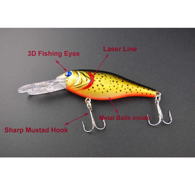JSM 1 piece פלסטיק קשיח לטוס דיג פיתוי 3D עין דג לנענע מינאו פתיונות קשיח פיתיון leurre souple