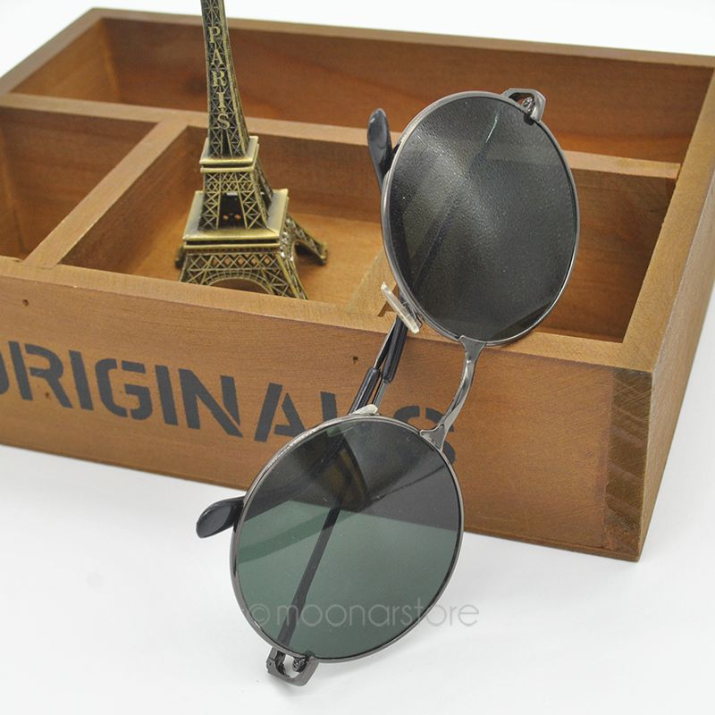 74401cbc7 Black Vintage Retro Boho Bohemian Hippie Round Circle Unisex Sunglasses  J*MPJ167#C6-in Sunglasses from Apparel Accessories on Aliexpress.com |  Alibaba Group
