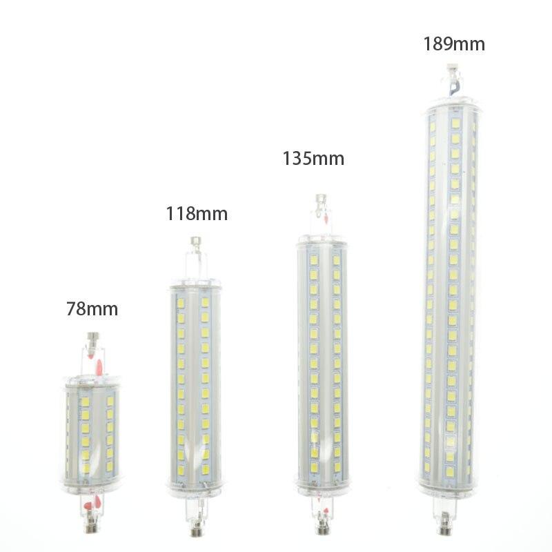 1pcs r7s led lamp 78mm 118mm 135mm 189mm 7w 15w 20w 25w for Led r7s 78mm 20w