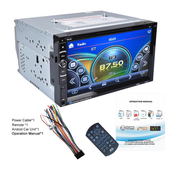 Android 7 in Double 2Din 800 * 480 Car Radio Universal Without GPS DVD Car Audio Car Stereo Auto USB Bluetooth Radio FM 45W*4