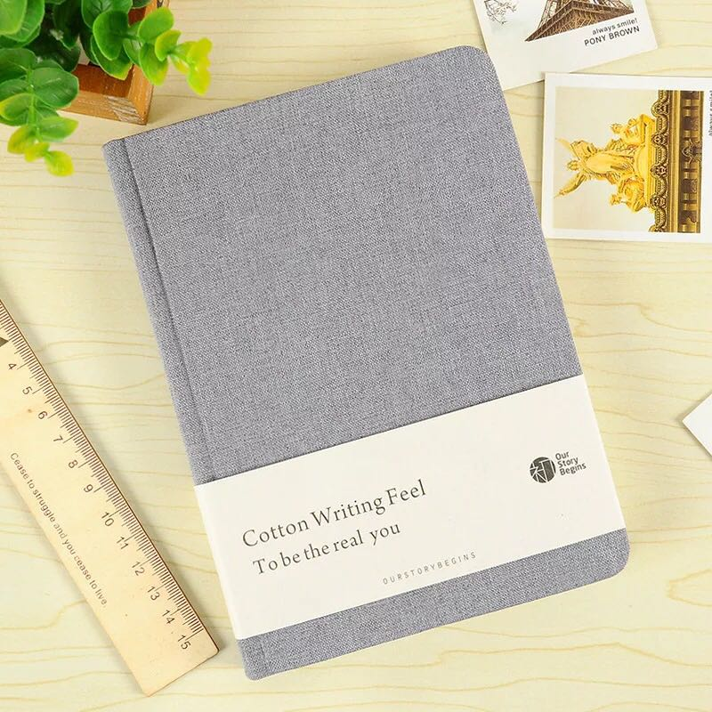 Cotton cloth covered A5 notebook pure colored botebook school used muji notebook office school supplies