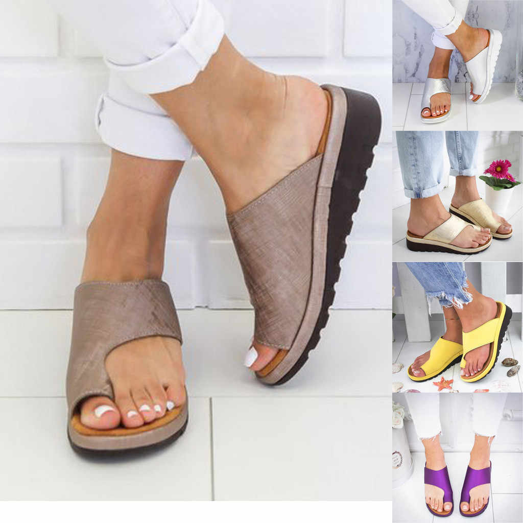Womens Fashion Flats Wedges Sandals Open Toe Ankle Beach Shoes Roman Slippers Summer Shoes Women Beach Sandal zapatos de mujer
