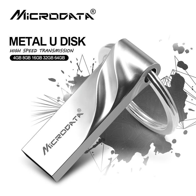 Aufrichtig Hot Version Metall Usb-stick Wasserdicht Pen Drive 64 Gb 32 Gb U Stick 16 Gb 8 Gb 4 Gb Stick Usb 2.0-stick Mit Keychain