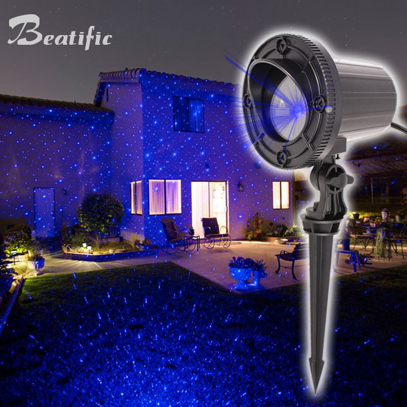 Laser Projector Christmas Lights All For The New Year Decorations Home Outdoor Waterproof Single Blue
