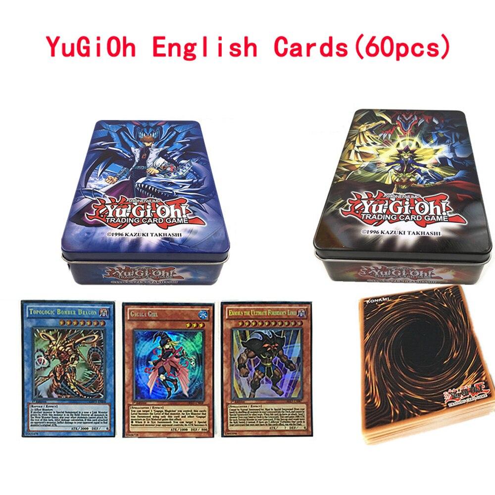 60 pz/set Yugioh Rare Flash Carte di Yu-Gi-Oh Gioco di Carte di Carta Giocattoli Per Bambini Ragazza Ragazzo Collezione Yu-Gi -Oh Carte Regalo Di Natale Con La Scatola