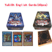 60PCS/Set Yugioh English Rare Flash Cards Yu Gi Oh Game Paper Cards Kids Toys Girl Boy Collection Yu-Gi-Oh Cards Christmas Gift(China)