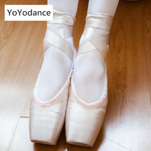 2019 on sale women quality ladies professional ballet pointe dance shoes with ribbons shoes woman zapatos de baile 4024