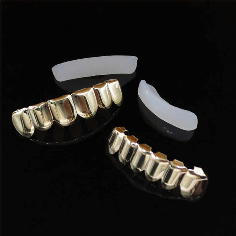CANNER хип-хоп ЗУБЫ Grillz розовое золото верх и низ ювелирные изделия для женщин и мужчин Панк косплей вечерние Рэппер подарок рот зуб грили