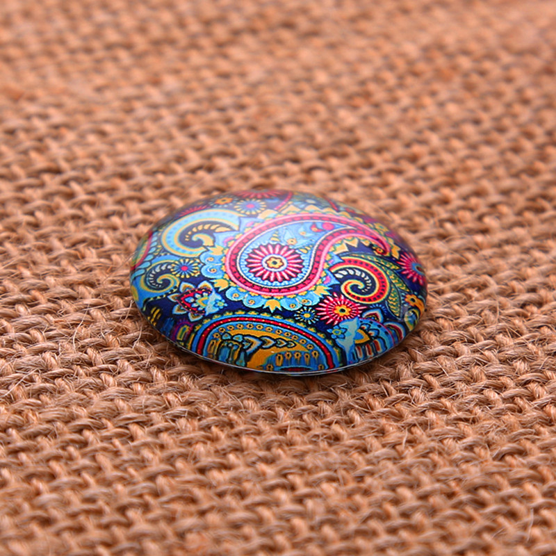 50Pcs Mixed Multicolor Patterns Round Glass Cabochons Dome Seals Cameos Embellishments Crafts Making 8mm in Embellishments from Home Garden