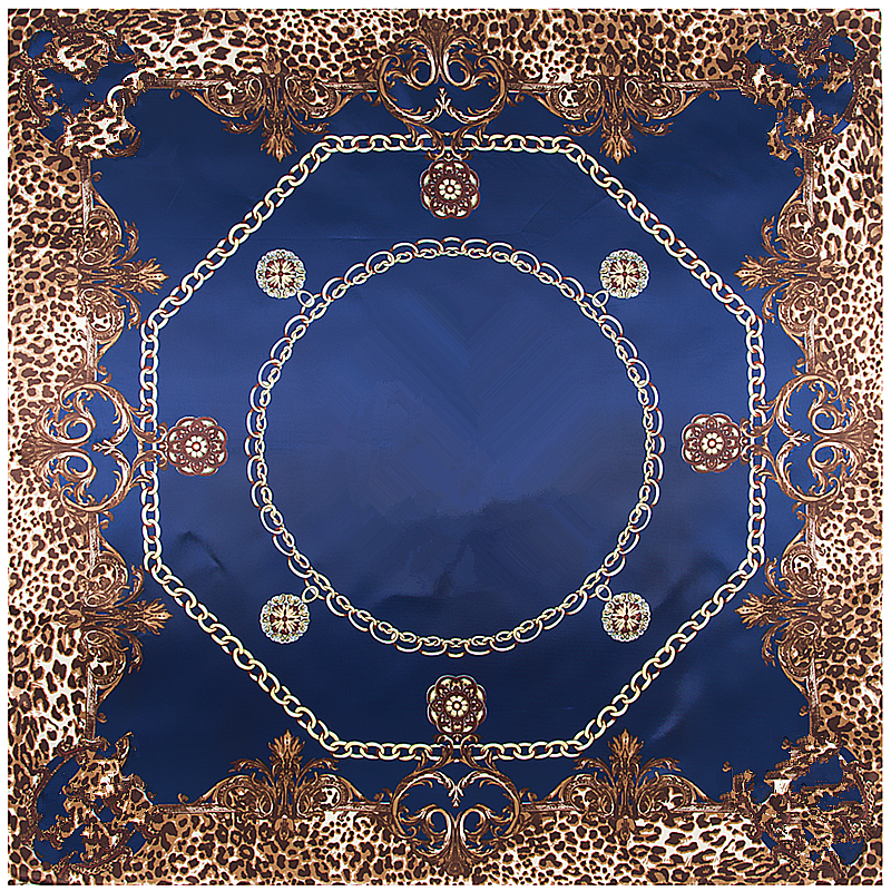 POBING Silk Scarf Women Luxury Brand Print Square Scarves Wraps Soft Satin Silk Headband Femme Foulards Small Bandana Hijab 90cm