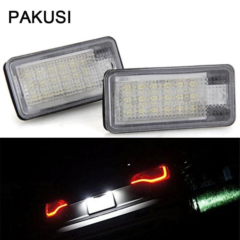 Pakusi Car Led License Plate Lights For Audi A4 B6 8e A3