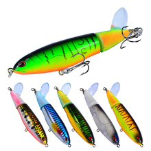 YUYU Fishing Lure with propeller 11cm 15g 15cm 36g Topwater Artificial Hard Bait 3D Eyes Rotating spiral Tail Tackle