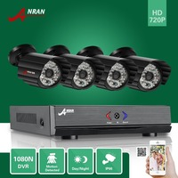 ANRAN 4CH HDMI 1800N AHD DVR 1800TVL 720P 48 IR Day Night Waterproof Bullet Video Security