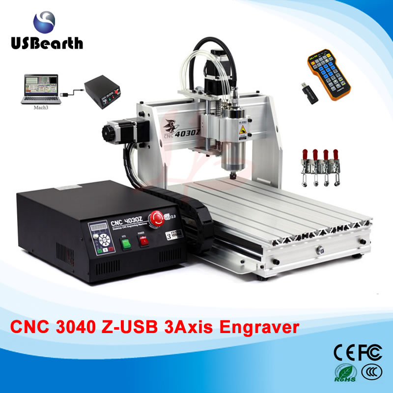 Mini cnc router 3040Z-USB mach3 control cnc cutting machine , free tax to EU countries eur free tax cnc 6040z frame of engraving and milling machine for diy cnc router