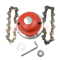 Easy Load Garden Grass Trimmer Head With Metal Link Saw Chain For Most All Trimmer Brush