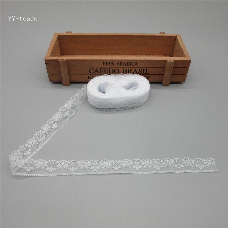 10 метров Высокое качество красивые белые кружева лента 20 мм кружевной отделкой DIY вышитые для швейных украшения в африканском стиле кружевная ткань