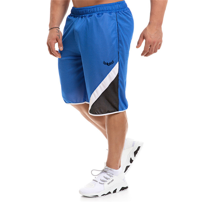New Fashion Men's Shorts Elastic Rope Stretch Summer Quick-dry Cool Shorts Male Mesh Pocket Casual Gyms Loose Shorts Joggers