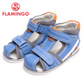 FLAMINGO 2016 new arrival summer kids shoes fashion high quality 100% genuine leather children sandals for boy XS5812