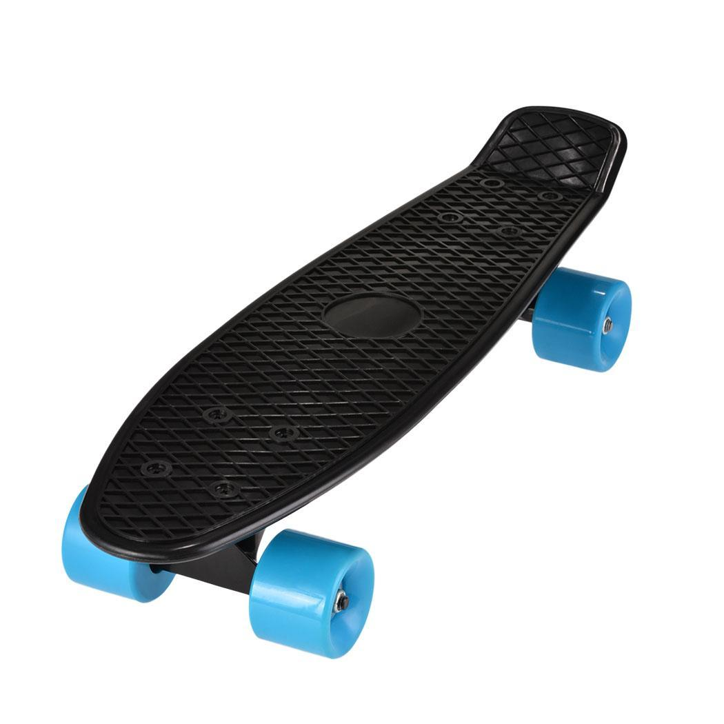 Black Four-wheel Long Skateboard 22