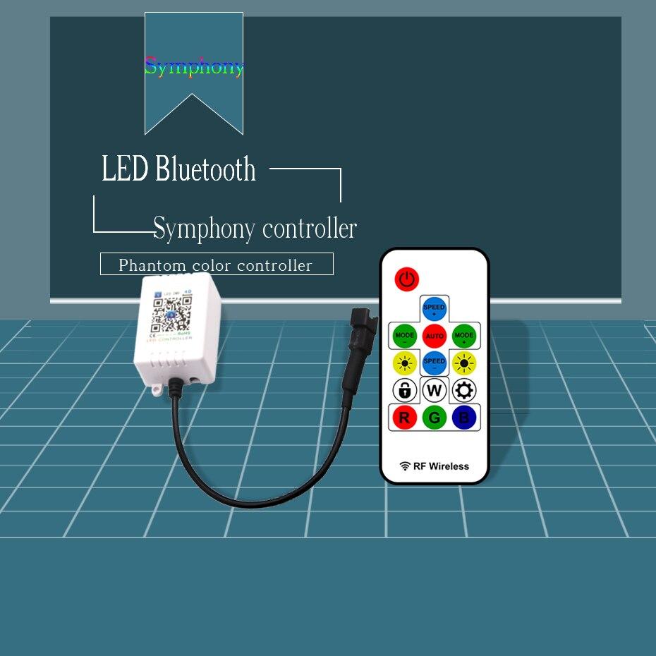5V-24V RF Symphony LED DMX Controller WS2812 WS2812b For LED Strip Light 5050 Music Controller Bluetooth 433Mhz DC 12V 24V       (2)