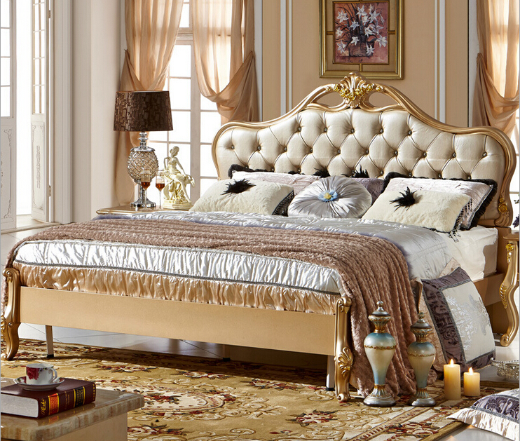 2016 latest furniture bedroom designs new classical design bed 0409 a09 in beds from furniture - Designs of bed ...