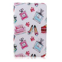 leather flip Case for Samsung Galaxy Tab 4 T330 T331 T335, Cute Owl Bear Flip Protective Leather Stand Holder for SM-T330 8.0
