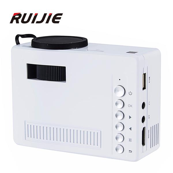 Original UC18 UNIC Mini Pico Projetor Portátil 3D Suporte 1080 P vídeo com CVBS HDMI Tf USB LED para Cinema Home theater