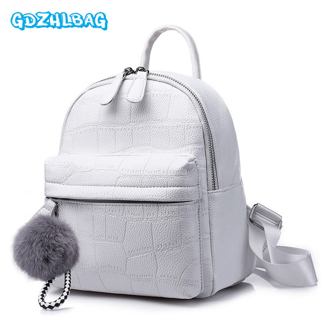 35d28359e6f Women Mini Leather Backpack For Teenagers Children Fashion Lady Bag Girls  Kids Small Backpacks Feminine Packbags 2018 New B251