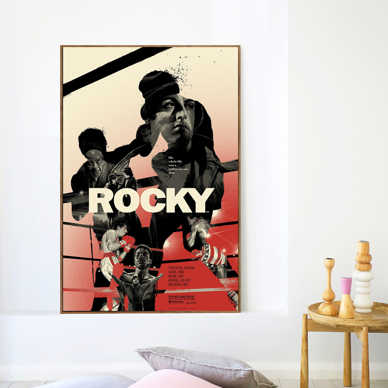 Sport Boxing Film HD Wall Art Canvas Poster And Print Canvas Painting Oil Decorative Picture For Bedroom Home Decor Accessories-in Painting & Calligraphy from Home & Garden