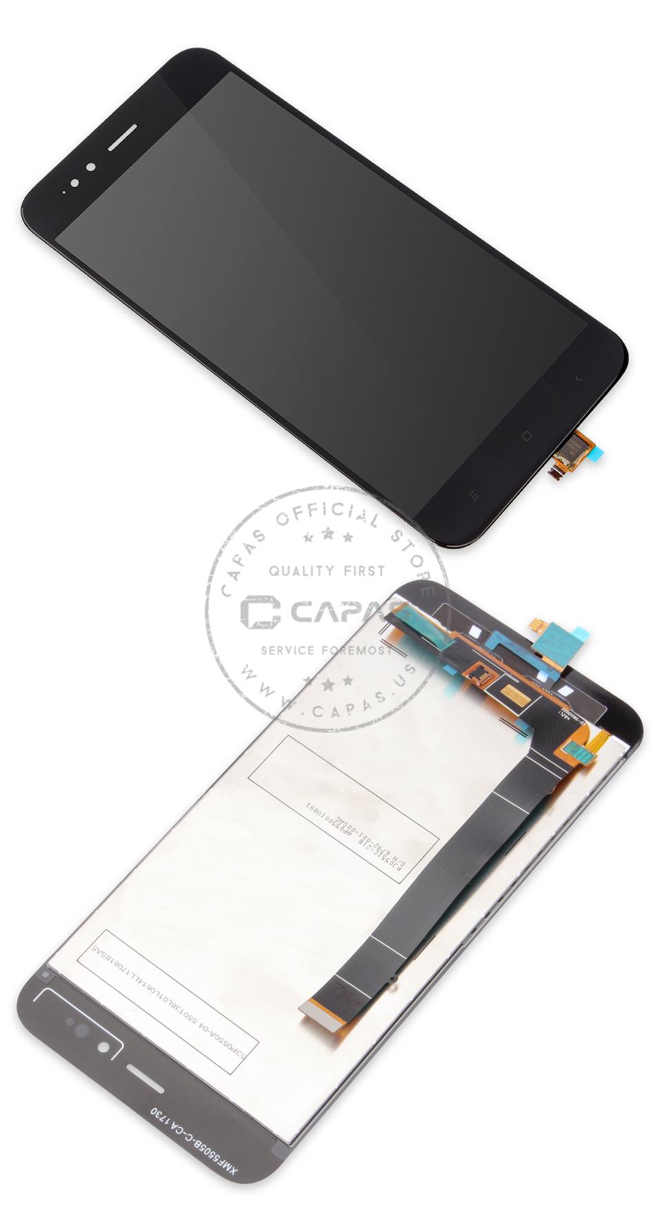 Original For Xiaomi Mi A1 Mia1 5x Mi5x Lcd Display Digitizer Touchscreen Black No Frame 1 X