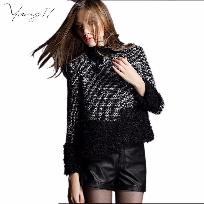 fall winter black wool coat 1