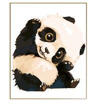 Phkv جميل الباندا الكرتون الصورة بواسطة أرقام diy رسمت باليد الرسم على قماش النفط الطلاء بواسطة أرقام الرقمية تلوين الصورة-في الطلاء حسب الرقم من المنزل والحديقة على