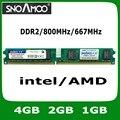 Оптовая Новый Бренд РАМС DDR2 4 ГБ 2 ГБ 1 ГБ 800 МГц PC2-6400 Совместимость с 667 МГц 533 МГц DIMM Памяти Для Настольных ПК БАРАНОВ