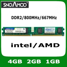 Wholesale New Brand RAMS DDR2 4GB 2GB 1GB 800MHz PC2-6400 Compatible with 667MHz 533MHz DIMM Memory For Desktop PC RAMS