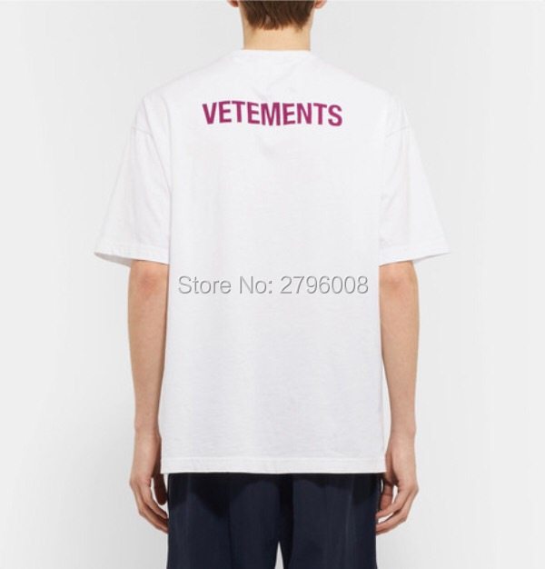 69a74b34db1e 2018 F/W Summer STAFF VETEMENTS Haute Couture purple Letter Embroidery men  short sleeve t