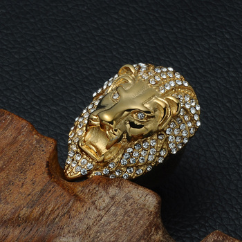Iced Out Lion Head Ring 1