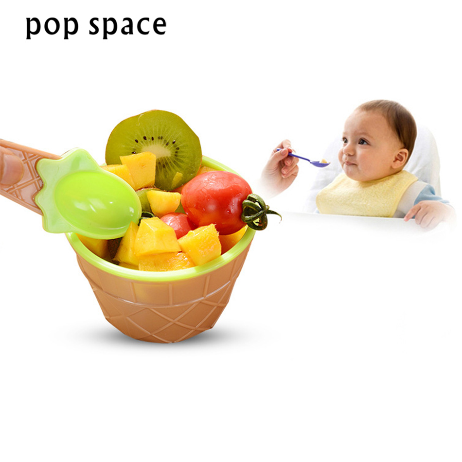 1pcs Reusable Cute Ice Cream Bowls and Spoons Durable ICE Cream CUP For KIds Couples Gifts Lovely Dessert Bowl
