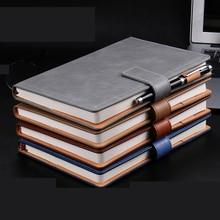 Классическая записная книжка для колледжа, 100 листов, B5, твердый переплет, тонкая записная книжка из искусственной кожи с магнитной пряжкой, ручка-петля