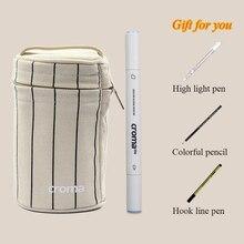 Набор маркеров Croma для рисования, набор ручек 24/36/48/60/72/216 цветов, маркер для набросков с двойной насадкой для рисования, ручки на масляной спиртовой основе с 4 подарками