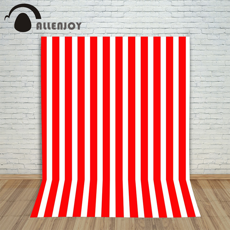 цены  Hromakey Photography background Red white striped baby girl digital computer printed Allenjoy backdrops