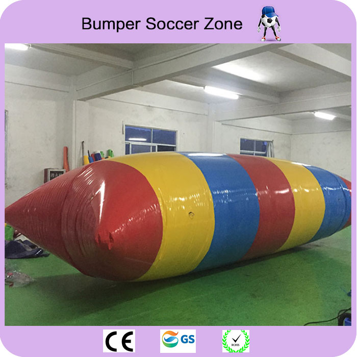 Free Shipping 12x3m Inflatable Water Blob Jumping Pillow Blob Catapult Inflatable Jumping Pillow Water Trampoline With a Pump free shipping 7 3m inflatable water pillow inflatable water blob jump bag inflatable trampoline free pump repair kits